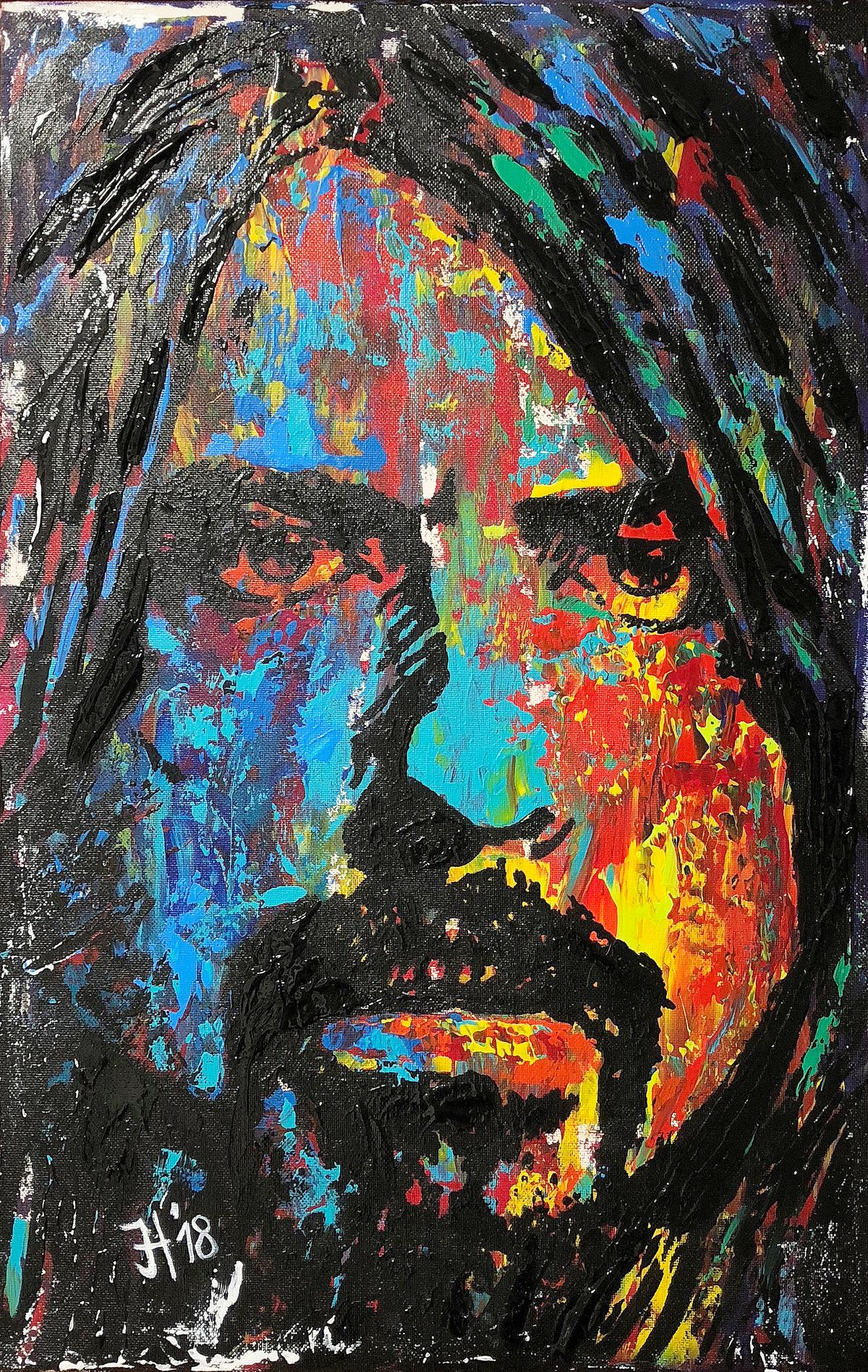 Dave Grohl (Foo Fighters) - 30 x 60 cm - © 2018