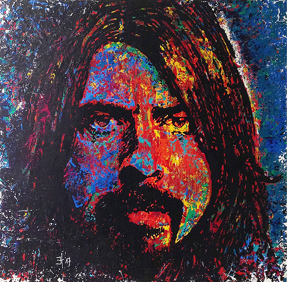 Dave Grohl (Foo Fighters) Nr.II - 100 x 100 cm - © 2017